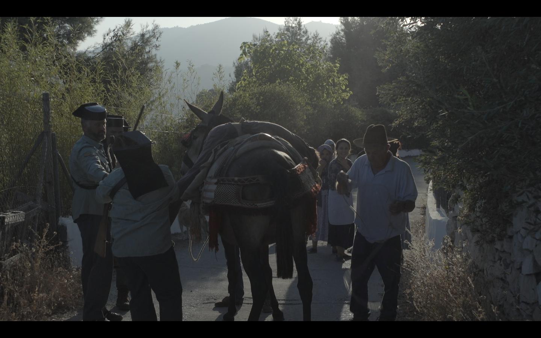 op pad Lomilla op ezel