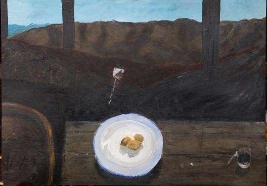 _schilderij salva bergen en tafel